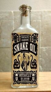 Vintage-Medicine-Hand-Crafted-Bottle-Snake-Oil-Miracle-EMPTY-Copy