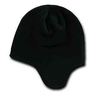 Black Helmet Beanie Hat Cap Ear Flap Ski Snowboard Warm Winter Hats ... 02bb0092c6f