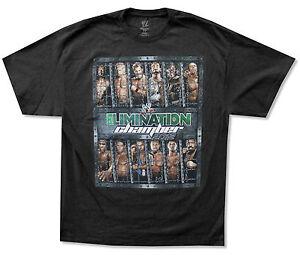 WWE-Wrestling-Ausscheidung-Kammer-2012-schwarz-T-Shirt-NEU-Official-Adult-2xl
