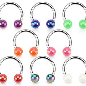 Lippenpiercing hufeisen cb ohr augenbraue nase intim piercing ring kugel perle ebay - Lippenpiercing ring ...