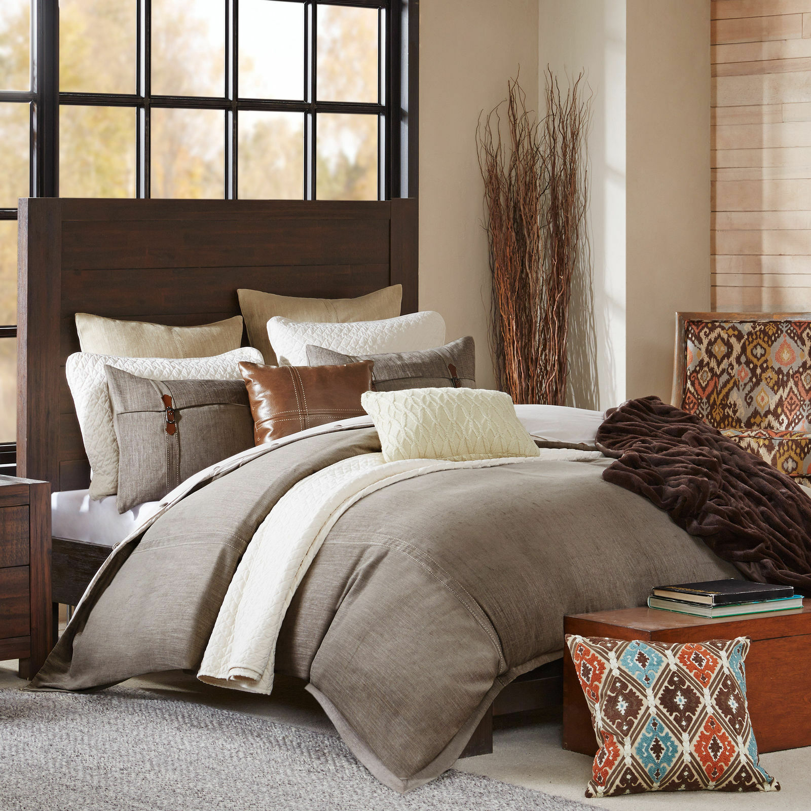 SALE    LIMITED TIME          Hampton Hill Roaring River King 9pcs Comforter Set