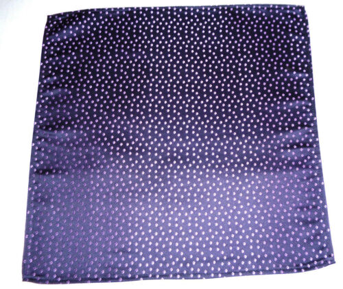 Silk mens top pocket handkerchief  Mauve classic pattern on navy blue   NEW