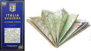 Cartina Veneto Michelin.K2 Vecchia Mappa Michelin Italia Svizzera Le Grandi Strade N 988 Ebay