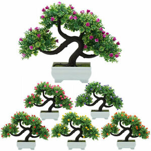 Am-Artificial-Flower-Tree-Plant-Potted-Bonsai-Wedding-Party-Home-Room-Decor-New