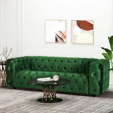 Marengo Contemporary Velvet Tufted 3 Seater Sofa