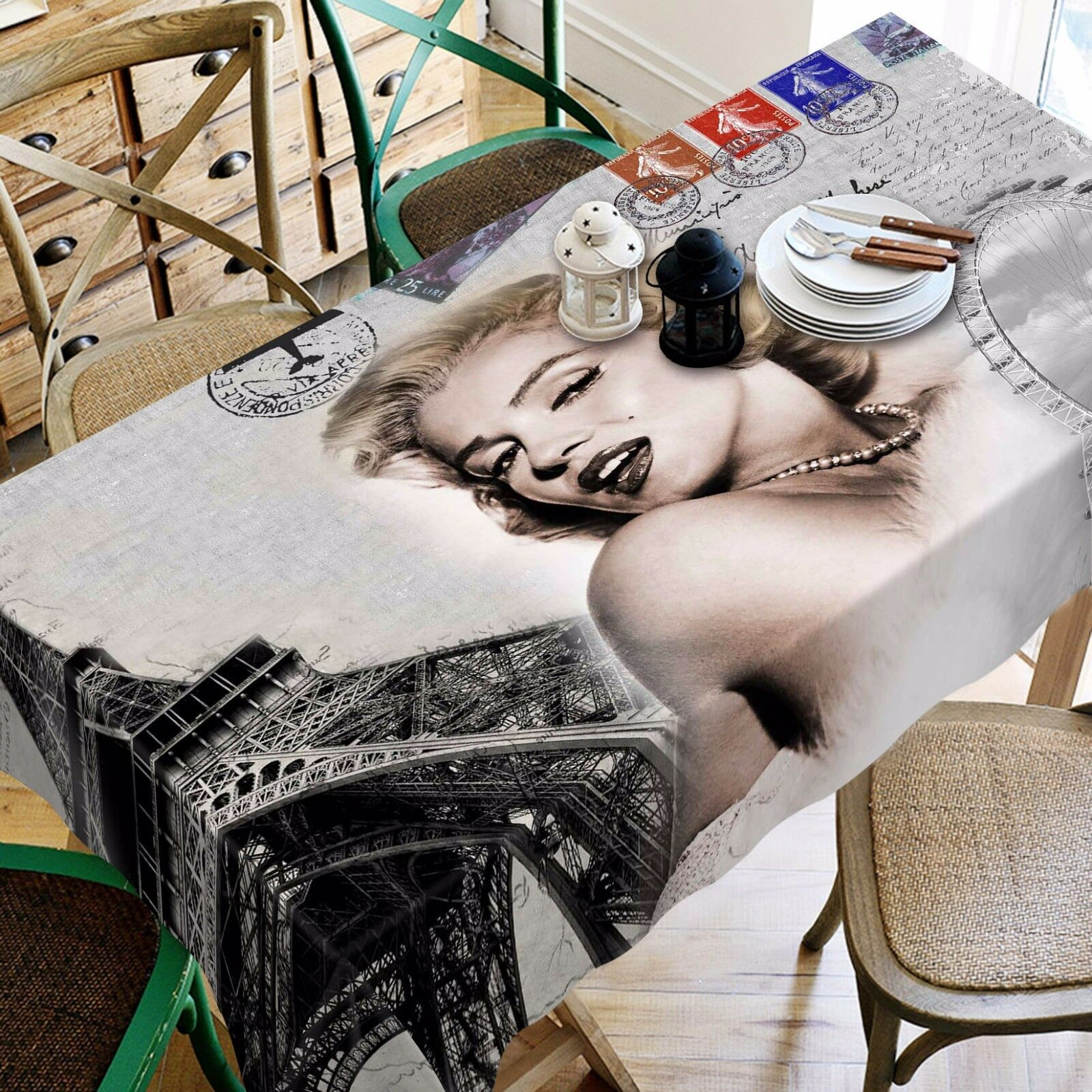 3D  Stamp 484 Tablecloth Table Cover Cloth Birthday Party Event AJ WALLPAPER AU