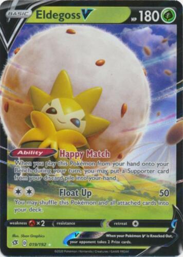 SWSH02-019 UR Eldegoss V Pokemon Rebel Clash Card # 19