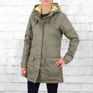Derbe Hamburg Damen Winter Mantel Isola Grau Melange Frauen