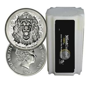 2021 NI Silver Roaring Lion MintCertified First30 1 oz Coin | Sealed Tube