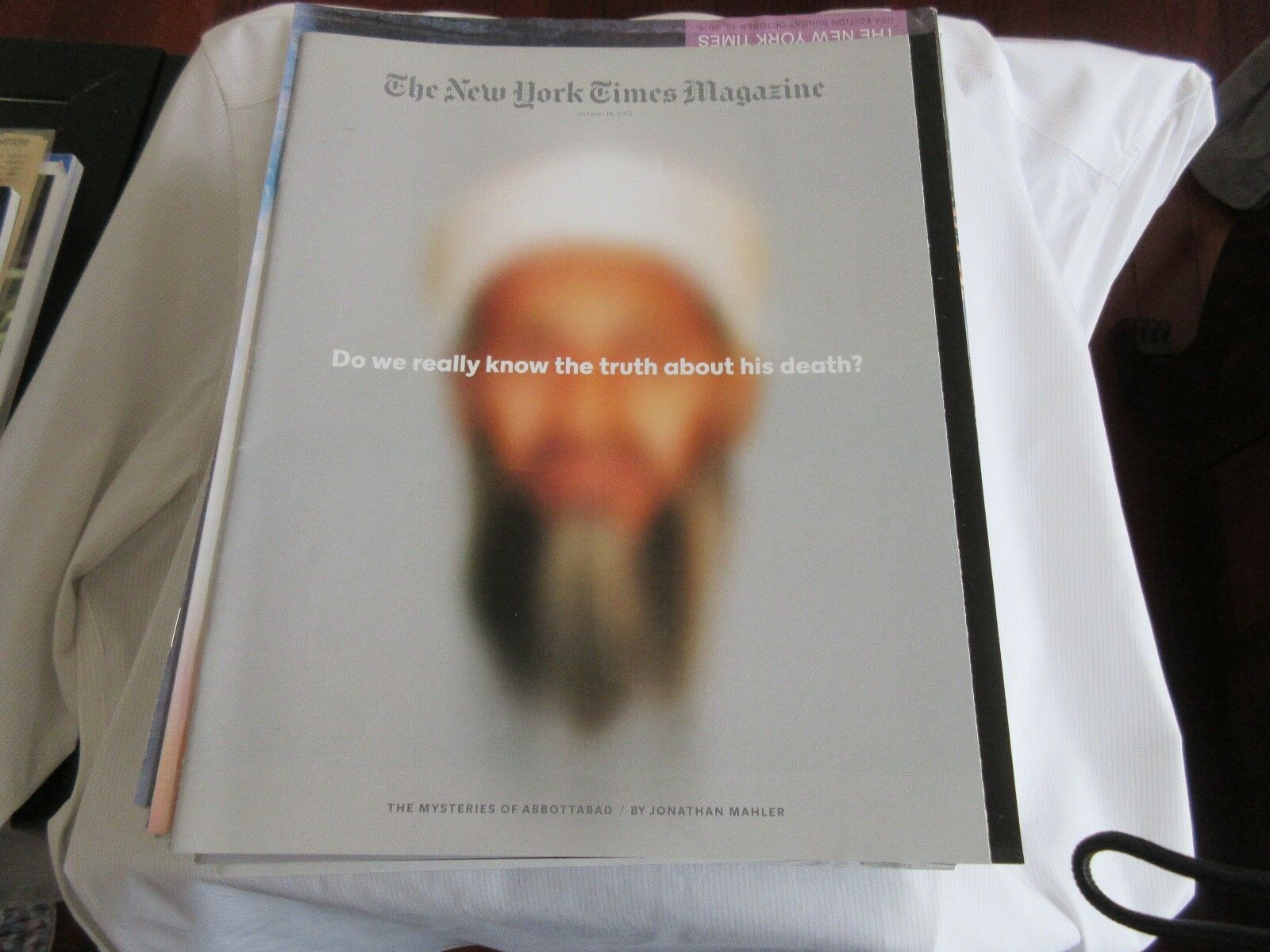 Osama Bin Laden , New York Times Magazine , October 18