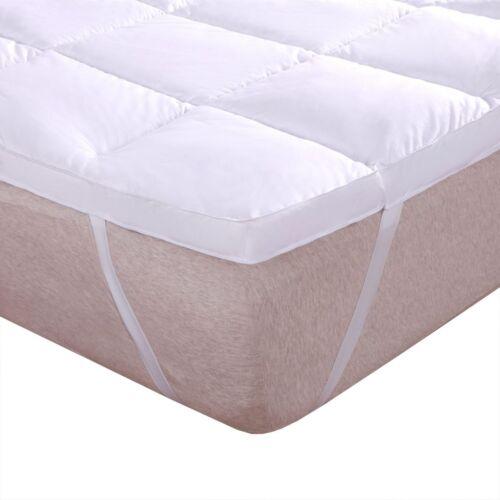 "White Alternative Down fill 2/"" Thick Comfort Mattress Topper 100/% Cotton Shell"