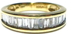 """""""FTH"""" 14K YELLOW GOLD 1,00CT BAGUETTE DIAMOND WEDDING ENGAGEMENT RING BAND"""