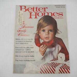 Better Homes and Gardens Magazine December 1971 Vtg