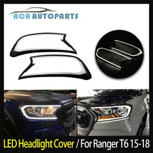 LED-DRL-Daytime-Running-Light-Headlight-Cover-fit-Ford-Ranger-MK2-2015-2018