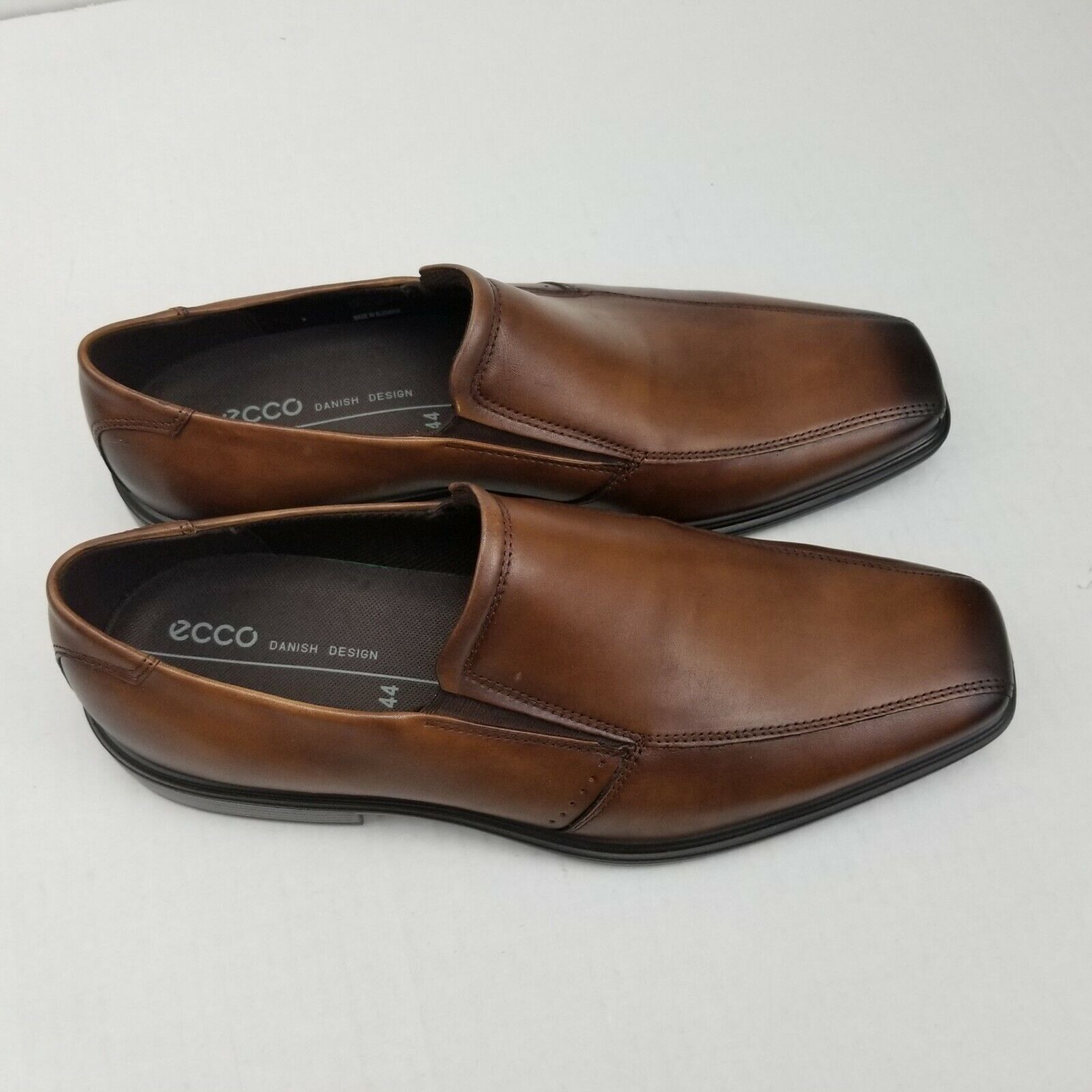 ECCO Minneapolis Mens Loafer shoes size US 10-10.5 (EUR 44) Amber BICYCLE TOE