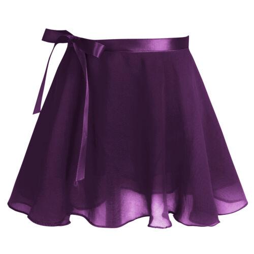 US Girl Gymnastics Ballet Leotard Dress Kids Dance Tutu Skirt Dance wear Costume