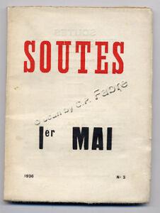 LUC-DECAUNES-SOUTES-1ER-MAI-REVUE-CULTURE-REVOLUTIONNAIRE-1936-N-3