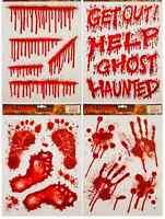 Halloween Window Stickers Prop Decoration Blood Bloody Party Splattered Glass