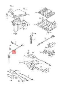 exhaust gas temperature for Audi A4 A6 Sensor