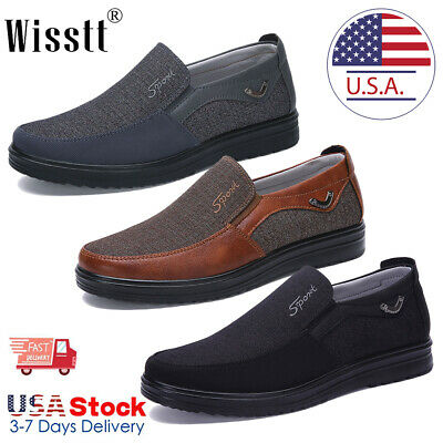 men's leather casual dress shoes driving moccasins slip on