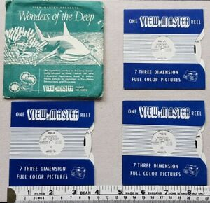 View-Master 'Wonders of the Deep' Reels x 3. Packet no.WDPX. Sawyer's Europe