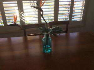 Blue-glass-vase-30-centimeter-tall