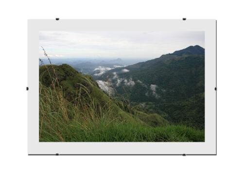 400 Größen zur Auswahl. Rahmenloser Bildhalter SOFIA 33 x 95 cm