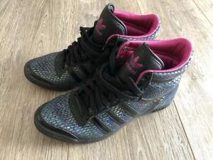 Details zu Adidas Top Ten Hi Sleek Schuhe Turnschuhe Sneaker Damen , SchwarzPink