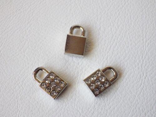 PADLOCK 16mm x 10mm BNDiam37 3 x Diamante Pendant