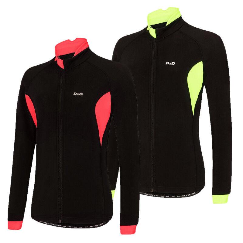 D2D Ladies 4Season Roubaix Long Sleeve Cycling Jersey  Red or Hi-viz Flugold