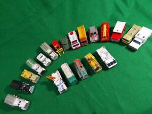 20-x-Matchbox-Lesney-lorry-truck-job-lot-vintage-diecast-Peterculter-nasa-daf