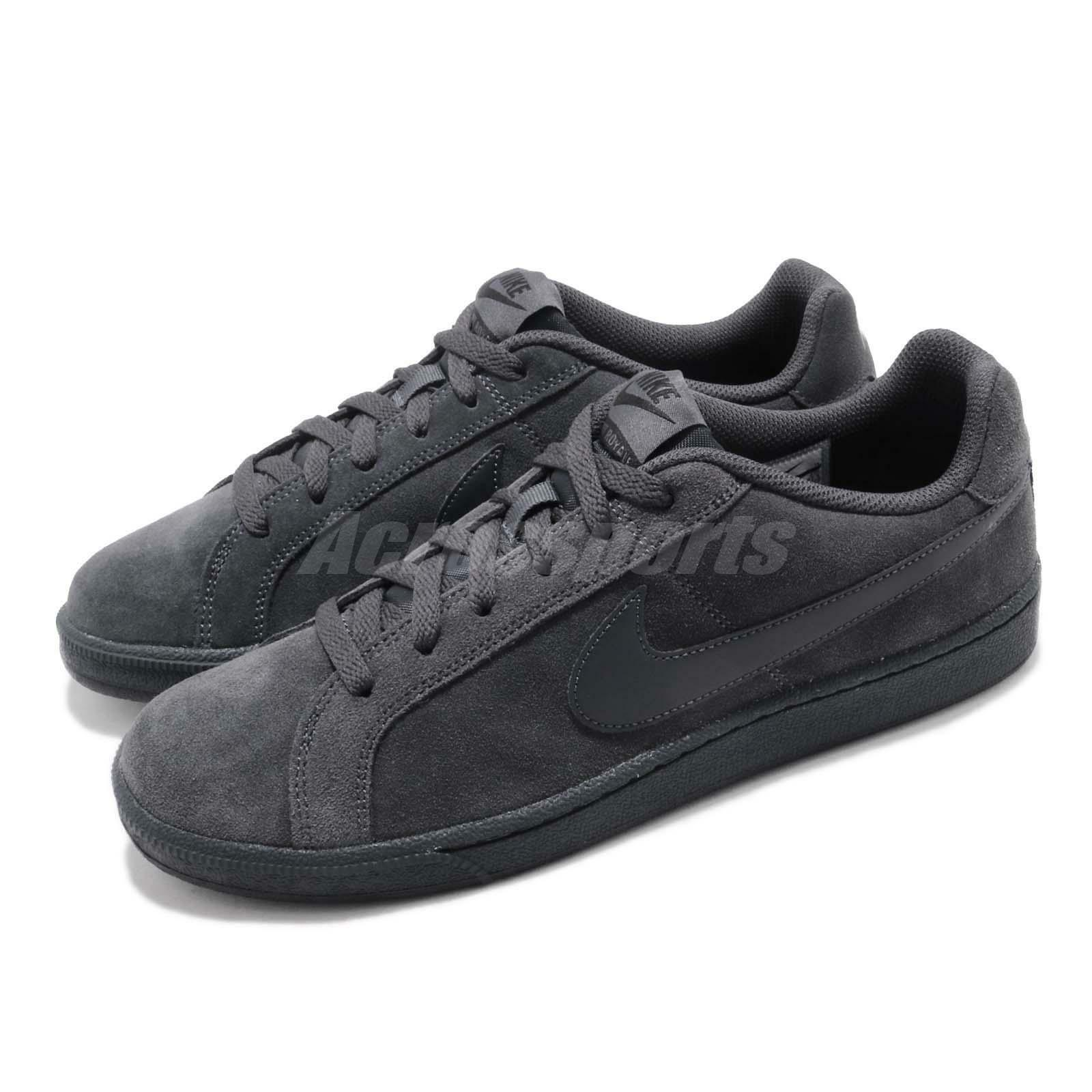 Nike Court Royale Suede Anthracite Black Men Casual shoes Sneakers 819802-012