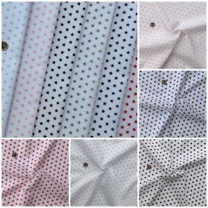 Plain Coloured Polycotton Fabric Metre Half Metre Fat Quarters