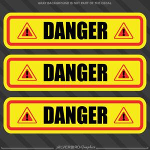 vinyl 3M caution warehouse 10x Danger sticker decals warning industry