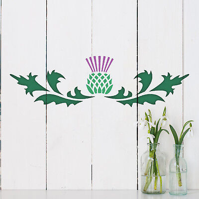 Scottish Thistle Template by CraftStar 26 x 7.5 cm Thistle Border Stencil