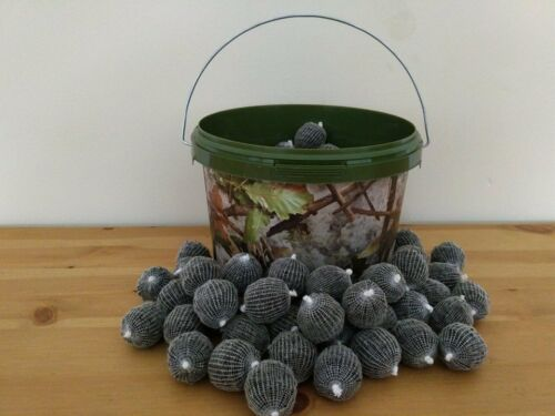 100 pre tiedpremadepre filled PVA mesh bags in a camo bucket special offer