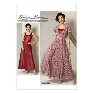 Vogue-cartamodello-Misses-039-Kathryn-BRENNE-RISPARMIO-ABITO-CINTURA-amp-slittamento