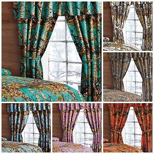 Window Camo Valance 2 Panels Curtain Drape Set Woods Sheer ...