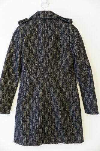 M Piperlime blanc mélangée en lourd Nwt Sz laine Collection Manteau mélangée noir mi 7qgxU4Zxw