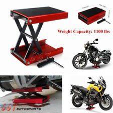 New Motorcycles Atv Jack Lift 1100lbs Bike Stand Garage Repair Red Hot Sale 2021
