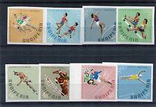 Albania 1968 serie città del Messico 1306B-13B non dentellata MNH
