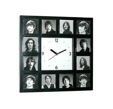 The Beatles History of faces through the years clock with 12 pictures