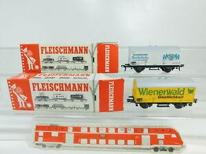 BN485-0-5-2x-Fleischmann-H0-DC-Gueterwagen-DB-5041-Wienerwald-5046-s-g-OVP
