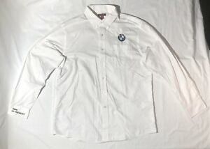 Red-House-White-Classic-BMW-Logo-Button-Up-Long-Sleeve-Shirt-Mens-XL-Pre-Owned