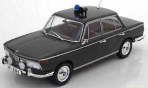1-18-Model-Car-Group-BMW-2000-TI-Type-120-Police-1966-darkgreen