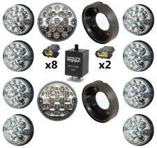 DA1191 S6067LED Wipac Land Rover Defender 73mm LED Light Upgrade Kit CLEAR