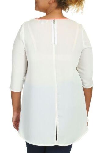 RRP £ 45.00 da donna 16-26 Lagenlook Wrap Front a strati Bianco Tunica Top LICK *