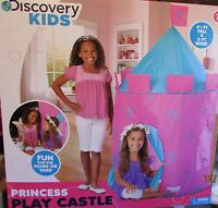 Discovery Kids Indoor Outdoor Princess Play Castle Tent Pink Purple -