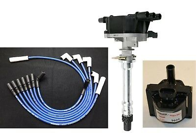 Red 8.5mm Spark Plug Wires Distributor Cap Coil 96-07 Chevy GMC 4.3L Vortec V6