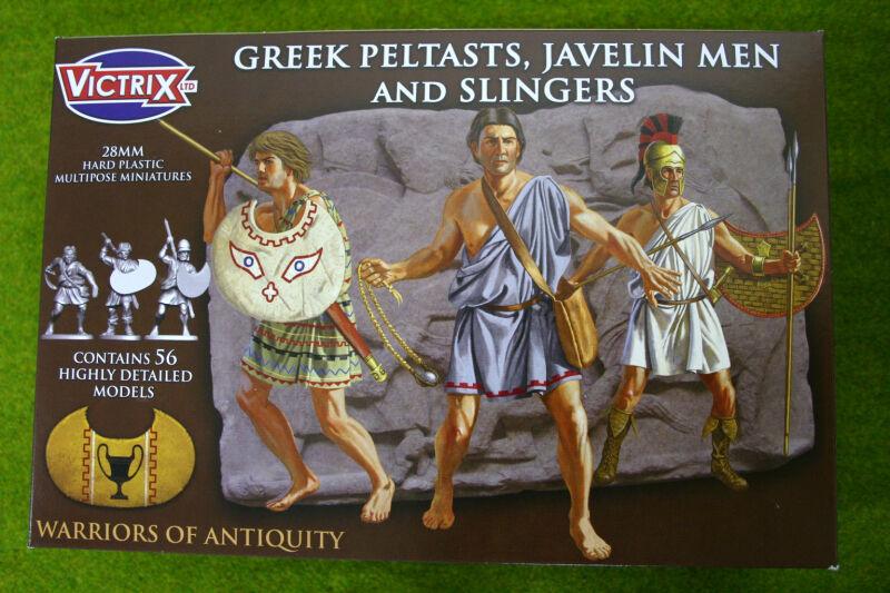 Victrix GREEK PELTASTS, JAVELIN MEN & SLINGERS  28mm plastic VXA006